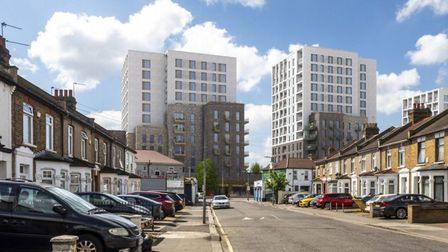 The flats would be built on the car park and public toilets in High Road. Picture: Pollard Thomas Ed