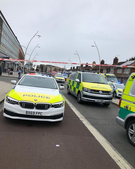 A number of police and emergency services are on the scene. Picture: Ruth Clark