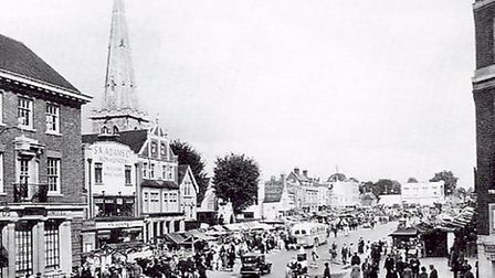 Romford Market in the late 1930s. Picture: A Century of Romford by Brian Evans