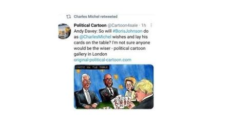 A deleted retweet from Charles Michel