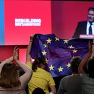Sir Keir Starmer opens a debate on Brexit during the Labour Party's annual conference.