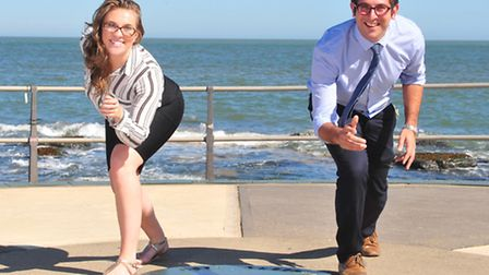 Becky Lawler and Joseph Long from Nicholsons Solicitors are organising a Lowestoft Half-Marathon to