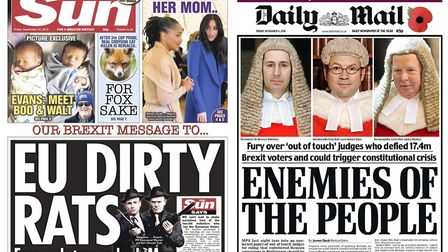 These front covers from the Sun and Daily Mail have been criticised by an EU official.