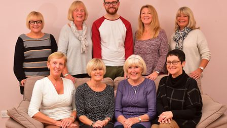 Macmillan Cancer Support fund-raising committee in Lowestoft. Back row left to right: Vanessa Osborn