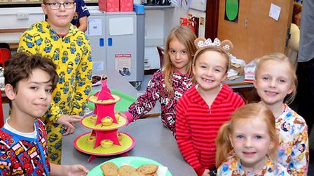 A scene from a Children in Need event at Gunton Primary Academy in Lowestoft last year. Pictures; MI