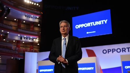 Chancellor of the Exchequer Philip Hammond at Conservative party conference. Photograph: Stefan Rous