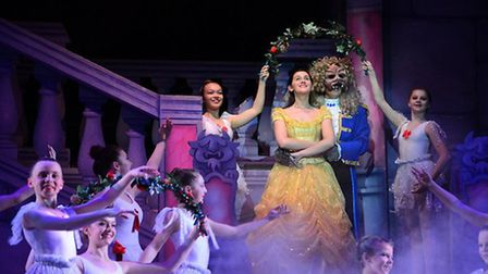 Belle and the Beast in Lowestoft's Marina Theatre pantomime. Picture: Charlotte James Photography &