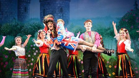 The Dame in Beauty and the Beast at Lowestoft's Marina Theatre. Picture: Charlotte James Photography