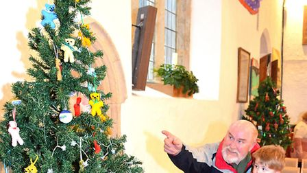 The Pakefield Church mini Christmas tree festival. Pictures: MICK HOWES