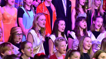 Benjamin Britten High School students in rehearsals for thge school Christmas performance.PHOTO: Nic
