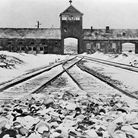 Entrance to the German concentration camp of Auschwitz-Birkenau in Poland. Picture: Getty Images