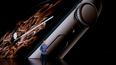 Male bias? Apple's Jeff Williams at the company's annual product launch in California. Photo: Karl M
