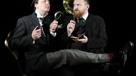 Upcoming shows at the Seagull Theatre. Darren Gooding and Damien Bell as Holmes and Watson. Photo: S