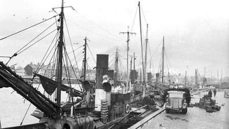 Lowestoft Harbour herring fishing, taken in 1953. Picture: Archant.