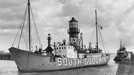 The South Goodwin lightship at Lowestoft, dated 22nd August 1962. Picture: Archant.