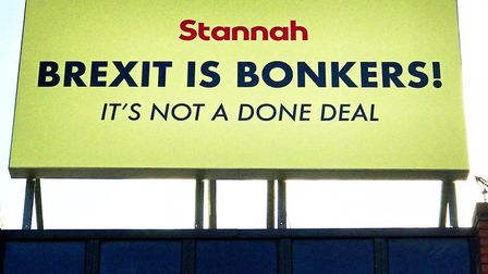 Stannah is the latest business to make a big bright yellow protest against Brexit.