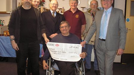 The Lowestoft Model Engineering and Model Making Exhibition cheque presentation.