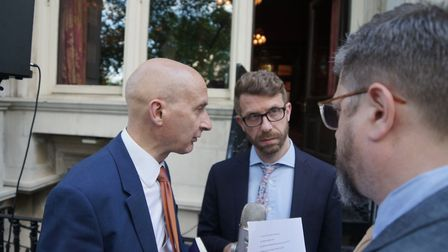 Lord Adonis being interviewed by Richard Porritt and Steve Anglesey Photo: Contributed