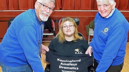 Kessingland Amateur Dramatics club presentation. Amanda Hadjkura and Lowestoft Lions members Robin S