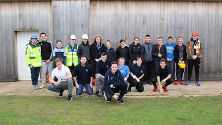 Level one students from the Uniformed Public Services department at Lowestoft College recently parti