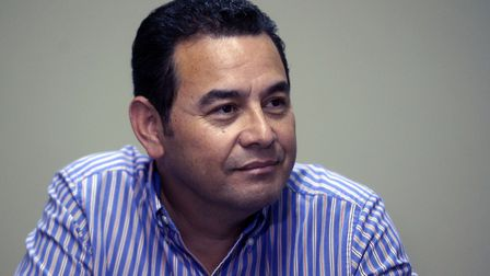 Former comedian: Guatemala's president, Jimmy MOrales. Photo: Marvin Recinos/AFP/Getty Images