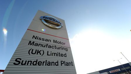 A photo of the Nissan Factory placard in Sunderland