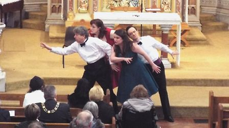The Merry Opera Company performing in Lowestoft.