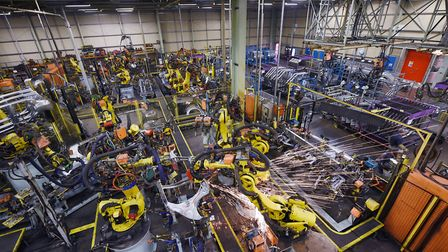 Inside the Nissan plant at Sunderland. Photograph: OLI SCARFF/AFP/Getty Images.