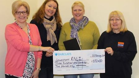Left to Right: Donna Lee (Parish Clerk), Councillor Gina Cooper, Kate Batchelor and Lynn James (RNL