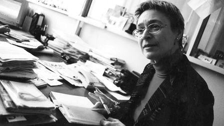 In this undated file photo, independent Russian journalist Anna Politkovskaya, a highly respected an