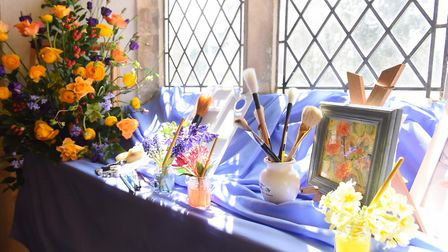 A scene from last year's (2016) flower festival at St Botolph's Church, North Cove, with the theme o