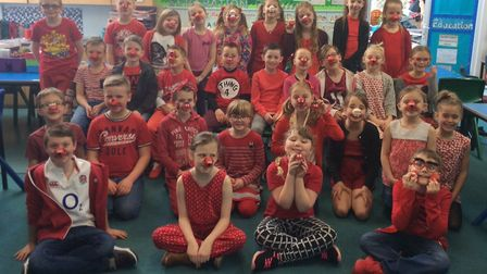 A successful Red Nose Day event was held at Corton Pimary School in Lowestoft. Pictures: Courtesy of