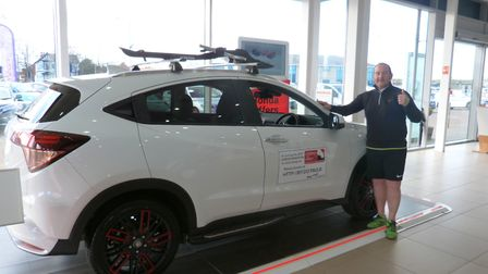 Local car dealer, Paul Barkshire, is running the London Marathon this year to raise money for Childr