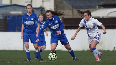 Shirley D Whitlow's photo of Lowestoft's Gemma Moore with Abbie Everson and Charnelle Riggall in the