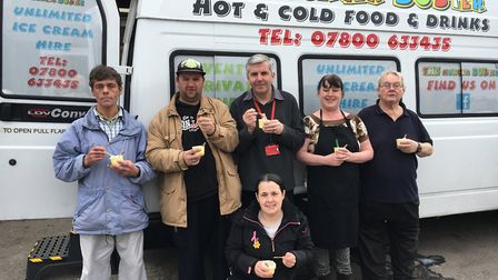 Bridge View was chosen as one of the lucky winners of a free ice cream from The Hunger Busters