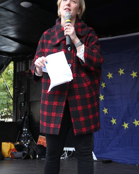 Stella Creasy MP speaks during the 'Wooferendum March. Photograph: Yui Mok/PA Wire
