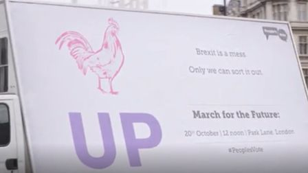 New poster launched by the People's Vote campaign