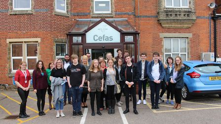 A Masterclass event was held for local students at Cefas. Picture: Cefas