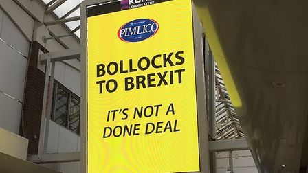 New 'Bollocks to Brexit' billboards funded by Pimlico Plumbers