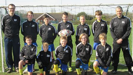 Lowestoft United U12 completed their season with a 100% record. Picture: Simon Landles