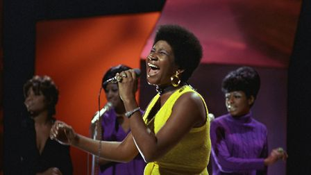 The Voice: Aretha Franklin performs on Top of the Pops 1970. Photo by Ron Howard/Redferns)