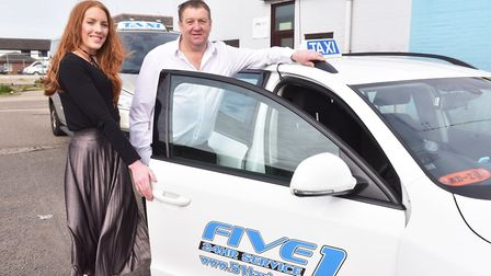 Five1 Taxi firm celebrates 30 years in business.Father and daughter John and Stacey Lock.Picture: Ni