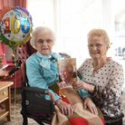 May Duckworth, celebrating her 100th birthday. Pictured with her daughter Audrey Dawson. Picture : A