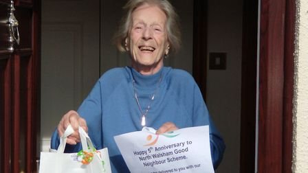 Jean Elliot, of North Walsham, was among the people supported by the North Walsham Good Neighbours w