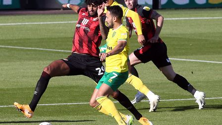 ukas Rupp battles with Bournemouth midfielder Philip Billing during City's 1-0 loss on Sunday Pictur