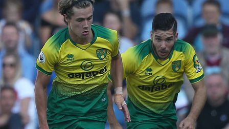 Todd Cantwell and Emi Buendia were left out of Norwich's City squad at Bournemouth Picture: Paul Che