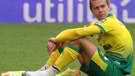 Todd Cantwell in reflective mood after Norwich City's Premier League defeat to Brighton Picture: Pa