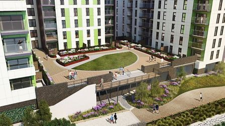The new apartments at Canary Quay. Pic: supplied