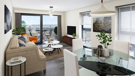 Inside the apartments at Canary Quay, the interiors will look like this. Pic: supplied