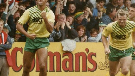 It was a simpler time covering Norwich City when Robert Rosario was leading the line. Picture: Archa